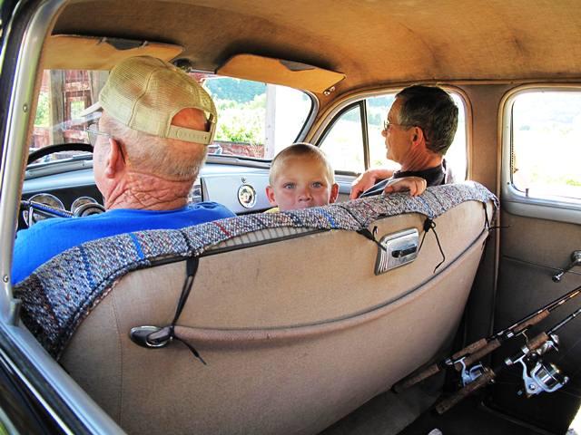 fishing trip car ride