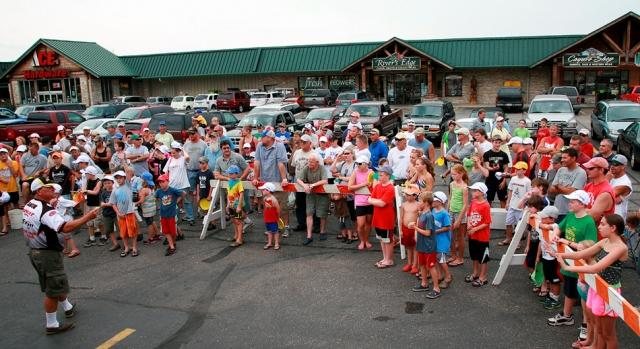 take an adult fishing crowd