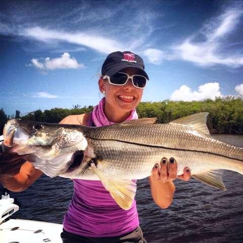snook caught on a circle hook