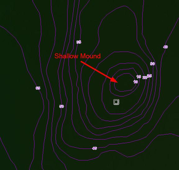 shallow mound