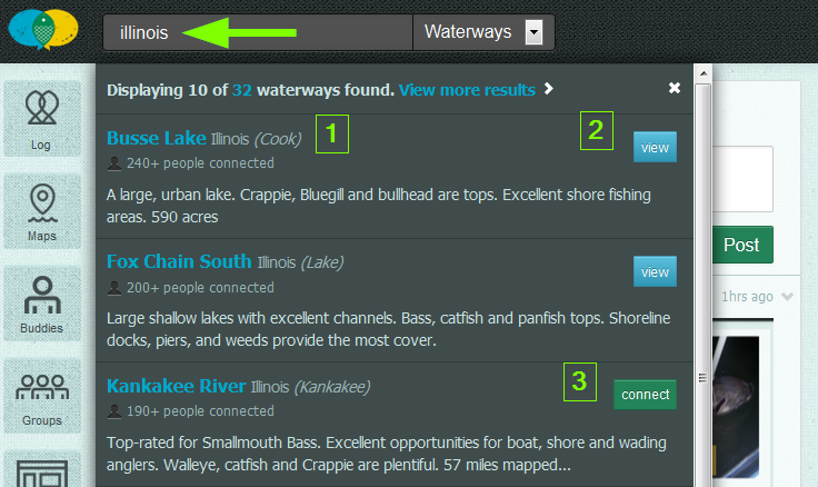 waterway search results