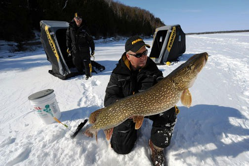 northern pike ice fishing