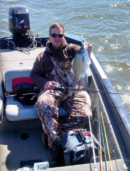 striped bass on la salle lake