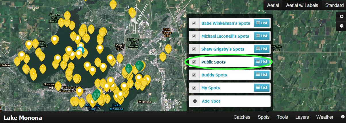 public spots