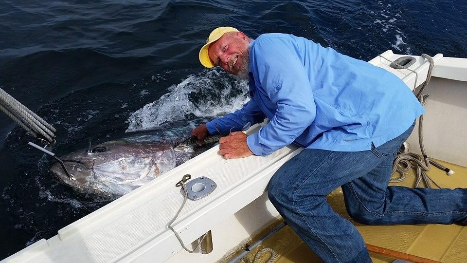 big tuna alongside boat