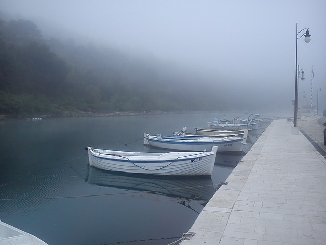 boats in fog