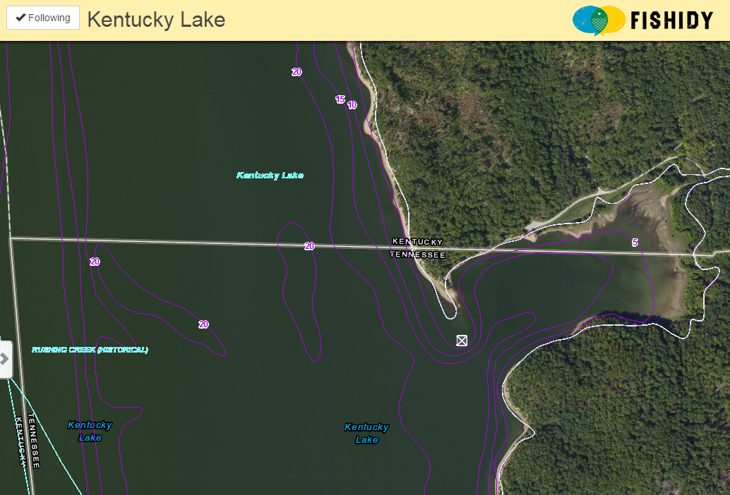 kentucky lake map on fishidy