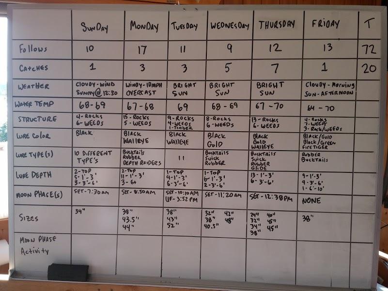 muskie results board