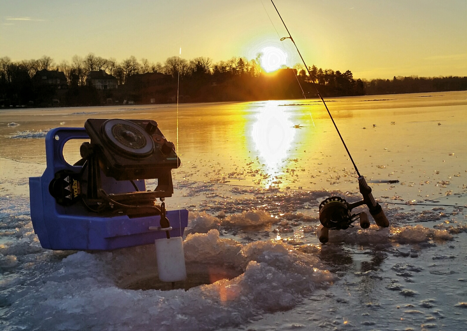 ice fishing hole - photo #37
