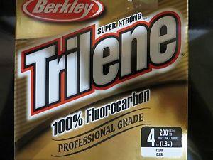 4 lb berkley trilene fluorocarbon