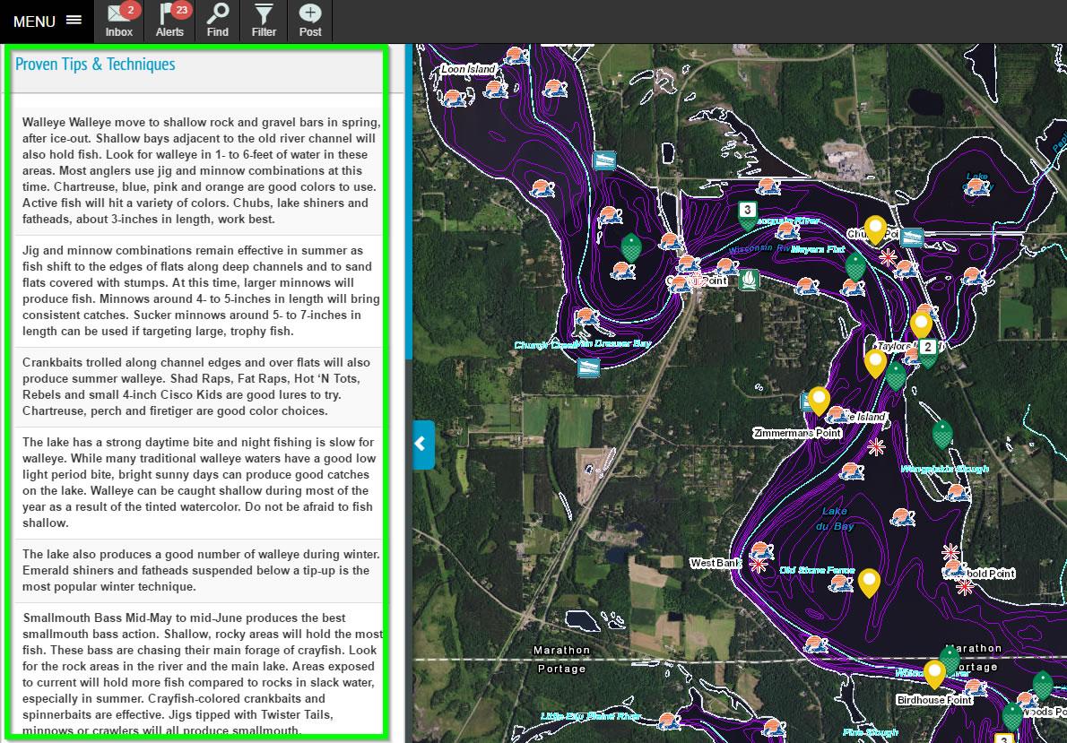 fishing tips and waterway info