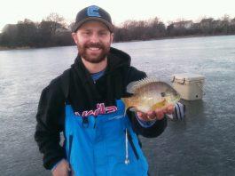 tip down fishing for bluegill