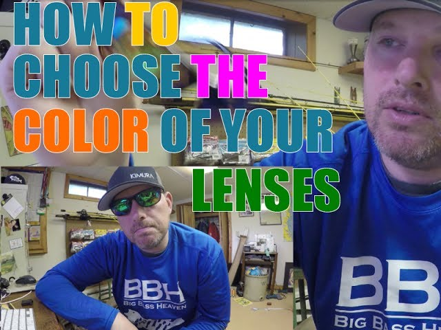 How To Choose the color of your sunglasses lenses, lens color, Sunglasses Lens Color