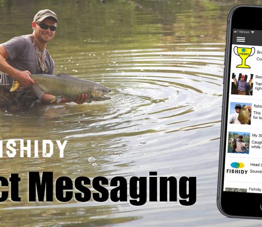 new direct messaging feature on fishidy
